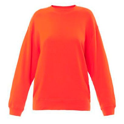 Product, Sleeve, Shoulder, Textile, Orange, Red, Outerwear, White, Sweater, Fashion,