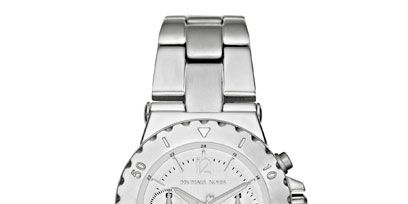 Product, Watch, Analog watch, White, Watch accessory, Font, Metal, Fashion accessory, Black, Grey,