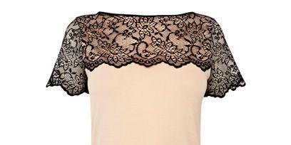 Product, Sleeve, Textile, Pattern, Dress, One-piece garment, Fashion, Neck, Day dress, Beige,