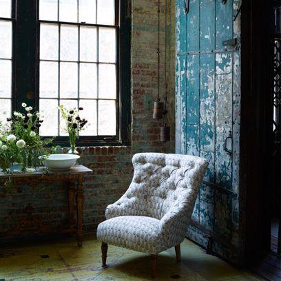 Room, Interior design, Floor, Wall, Glass, Fixture, Daylighting, Flowerpot, Houseplant, Club chair,