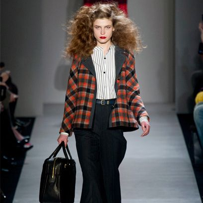 Product, Sleeve, Shoulder, Fashion show, Textile, Collar, Plaid, Outerwear, Pattern, Style,