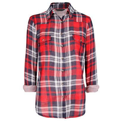 Clothing, Plaid, Product, Tartan, Collar, Pattern, Sleeve, Textile, Red, Outerwear,