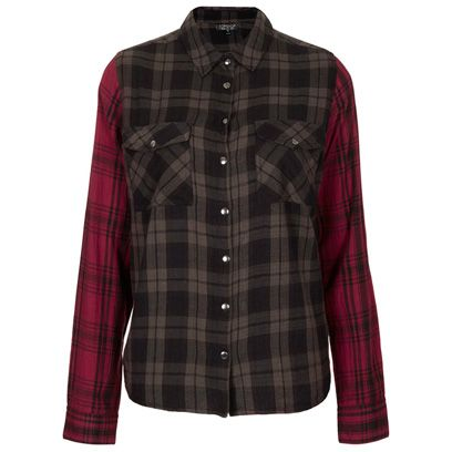 Clothing, Product, Plaid, Brown, Collar, Pattern, Sleeve, Tartan, Red, Textile,