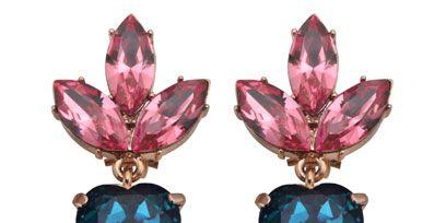 Pink, Natural material, Magenta, Purple, Body jewelry, Violet, Teal, Metal, Cobalt blue, Craft,
