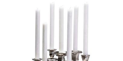 Candle holder, Cylinder, Metal, Steel, Candle, Silver, Bronze,