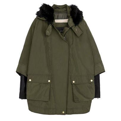 Brown, Coat, Collar, Sleeve, Textile, Outerwear, Jacket, Fashion, Black, Khaki,