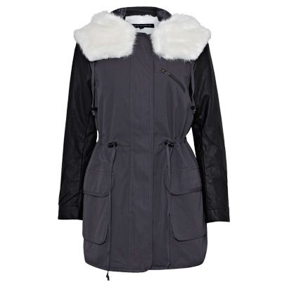 Product, Sleeve, Textile, Outerwear, White, Collar, Fashion, Black, Natural material, Jacket,