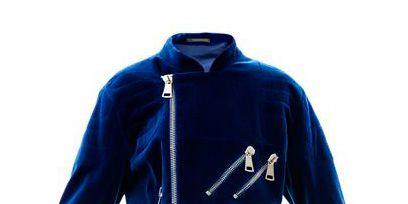 Blue, Jacket, Sleeve, Collar, Textile, Outerwear, Coat, Electric blue, Cobalt blue, Fashion,
