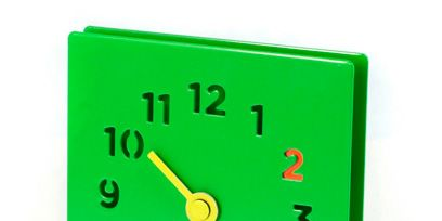 Green, Line, Colorfulness, Clock, Parallel, Wall clock, Measuring instrument, Home accessories, Circle, Number,