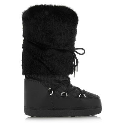 dc21a3015 Karl Lagerfeld Faux Shearling Snow Boots Net A Porter