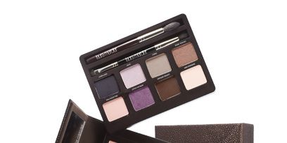 Brown, Purple, Eye shadow, Violet, Lavender, Tints and shades, Cosmetics, Tan, Beige, Rectangle,