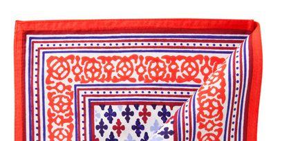 Blue, Textile, Red, Pattern, Line, Rectangle, Electric blue, Cobalt blue, Majorelle blue, Visual arts,