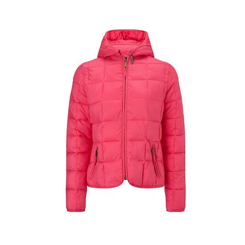 Jacket, Sleeve, Textile, Outerwear, White, Red, Collar, Magenta, Orange, Fashion,