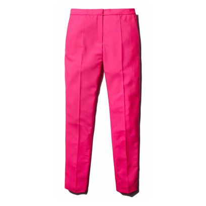Clothing, Trousers, Denim, Textile, Pocket, Pink, Style, Magenta, Electric blue, Fashion design,