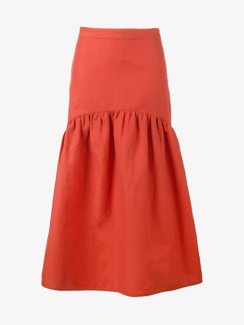 Clothing, Orange, Red, A-line, Fashion, Waist, Skort,