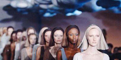 People, Dress, Fashion model, Fashion, Waist, One-piece garment, Day dress, Long hair, Little black dress, Model,