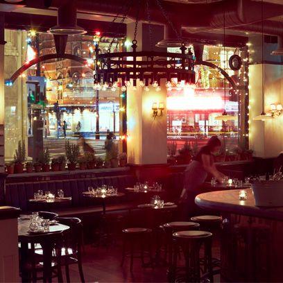Lighting, Furniture, Table, Restaurant, Drinking establishment, Customer, Tavern, Pub, Light fixture, Bar,