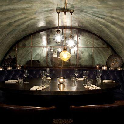 Lighting, Architecture, Ceiling, Room, Interior design, Arch, Crypt, Building, Light fixture, Restaurant,