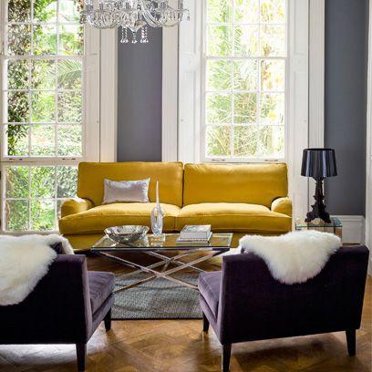 Grey Living Rooms   Interiors