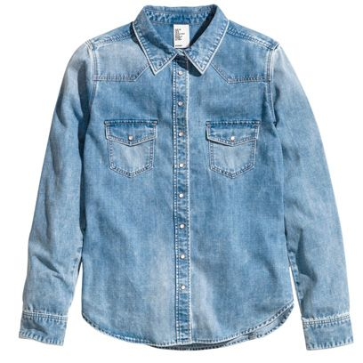 Clothing, Blue, Product, Sleeve, Collar, Denim, Textile, Outerwear, White, Light,