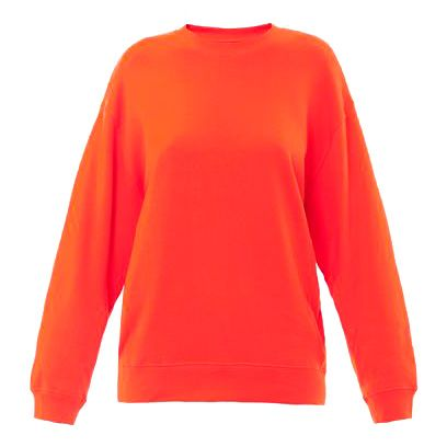 Clothing, Product, Sleeve, Orange, Textile, Red, Outerwear, White, Sweater, Fashion,