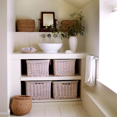 Wicker Baskets In Bathroom Country Style Bathrooms Decorating Ideas Interiors