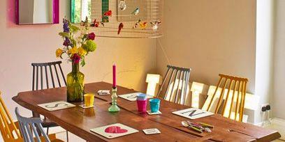 Room, Wood, Furniture, Interior design, Table, Floor, Dining room, Chair, Flooring, Hardwood,