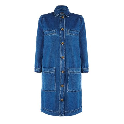 Clothing, Blue, Product, Sleeve, Textile, Outerwear, Collar, Denim, Coat, Electric blue,