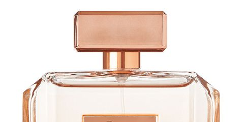 Perfume, Product, Beauty, Cosmetics, Fluid, Liquid, Peach, Glass bottle,