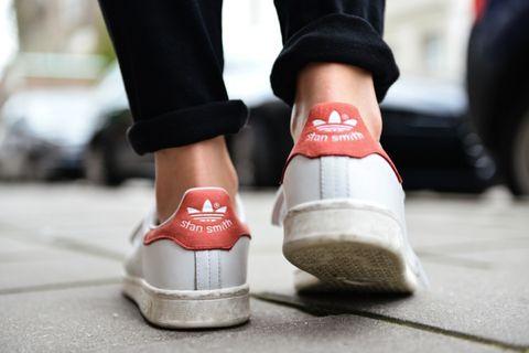 Footwear, White, Shoe, Red, Street fashion, Ankle, Pink, Fashion, Leg, Skate shoe,