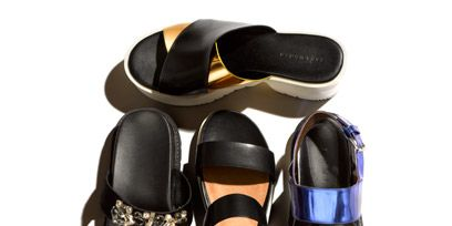 Footwear, Product, Brown, Shoe, Tan, Fashion, Eye glass accessory, Beige, Sandal, Collection,