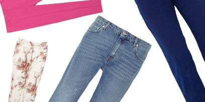 Clothing, Blue, Denim, Trousers, Jeans, Textile, Pocket, White, Style, Electric blue,