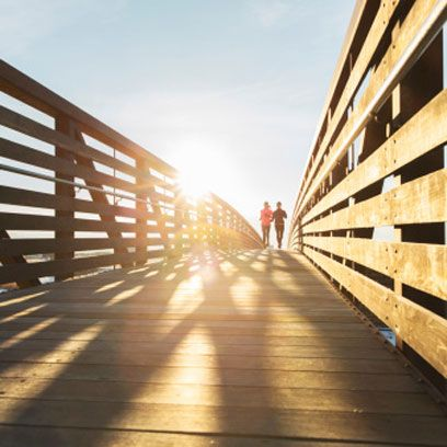Wood, Sunlight, Walkway, Parallel, Shadow, Pedestrian, Symmetry, Lumber, Boardwalk, Split-rail fence,