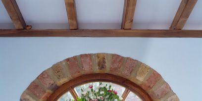 Blue, Interior design, Wall, Ceiling, Fixture, Tap, Paint, Household hardware, Flower Arranging, Interior design,