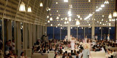 Event, Fashion show, Hall, Runway, Fashion, Fashion model, Blazer, Function hall, Audience, Fashion design,