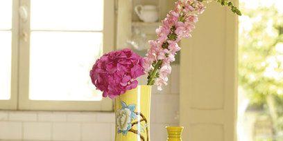 Serveware, Yellow, Flower, Artifact, Porcelain, Glass, Ceramic, Dishware, Interior design, Vase,