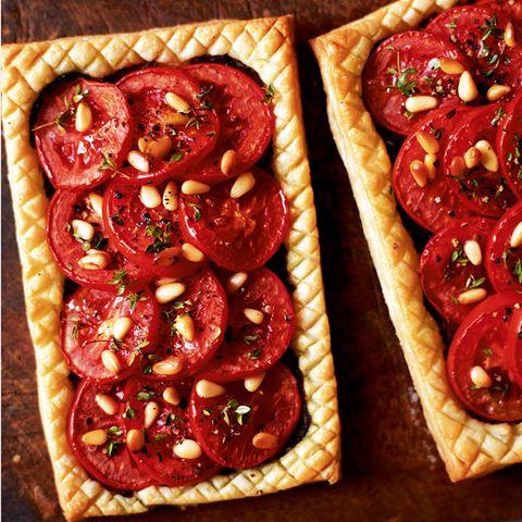 Food, Red, Ingredient, Dish, Baked goods, Recipe, Vegetable, Finger food, Produce, Cuisine,