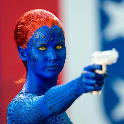 Blue, Joint, Electric blue, Majorelle blue, Fictional character, Cobalt blue, Colorfulness, Mystique, Azure, Toy,