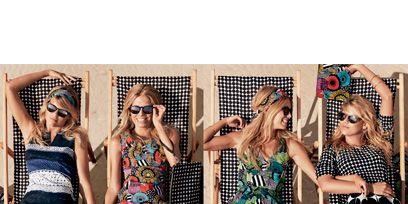 Clothing, Dress, Photograph, Pattern, Style, Waist, Summer, Sunglasses, Street fashion, Thigh,
