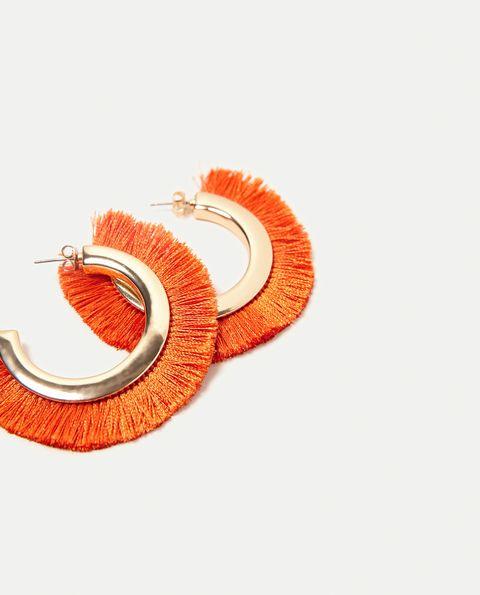 Orange, Ear, Fashion accessory, Jewellery, Earrings,