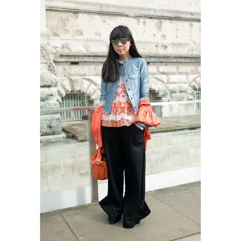 Clothing, Bag, Style, Luggage and bags, Street fashion, Fashion accessory, Shoulder bag, Maroon, Handbag, Scarf,