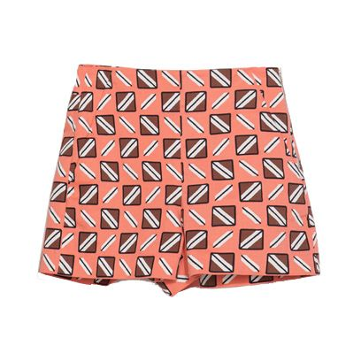Pattern, Orange, Triangle, Maroon, Pattern, Peach, Symmetry, Paper product, Square, Motif,