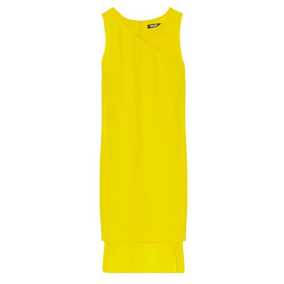 Yellow, Sleeveless shirt, One-piece garment, Day dress, Active shirt, Fashion design, High-visibility clothing, Workwear, Vest,