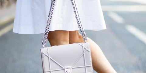 Blue, White, Bag, Style, Fashion accessory, Street fashion, Teal, Tan, Aqua, Shoulder bag,