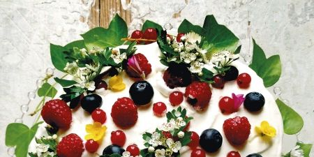 Food, Fruit, Produce, Garnish, Natural foods, Berry, Food group, Culinary art, Superfood, Dairy,