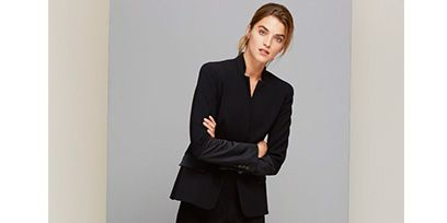 Clothing, Product, Sleeve, Collar, Shoulder, Standing, Joint, Floor, Outerwear, Formal wear,