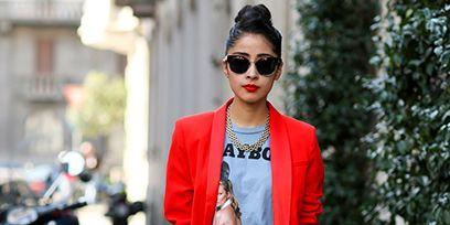 Eyewear, Glasses, Sunglasses, Coat, Outerwear, Style, Street fashion, Automotive tail & brake light, Jewellery, Fashion accessory,