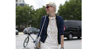 Clothing, Bag, Dress, Style, Street fashion, Street, Fashion accessory, Bicycle wheel, Fashion, Sandal,