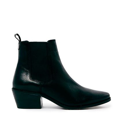 Boot, Leather, Fashion, Black, Fashion design, Synthetic rubber,