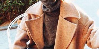 Sleeve, Textile, Outerwear, Jacket, Collar, Coat, Cable, Knee, Blazer, Beige,